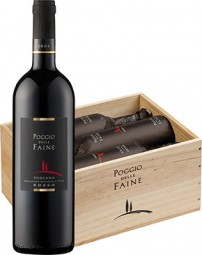 Poggio delle Faine Rosso IGT -in 6er Holzkiste- 2011